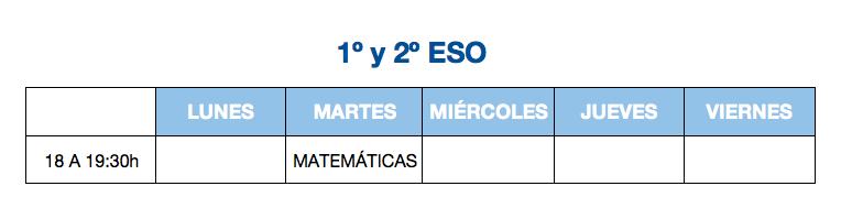 1 y 2 ESO