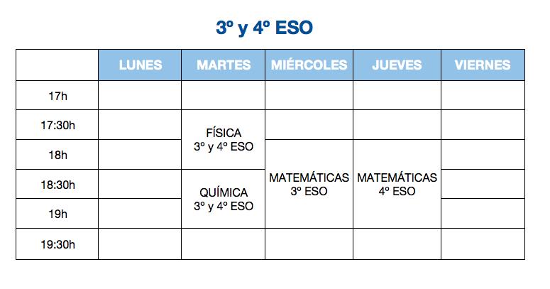 3 y 4 ESO
